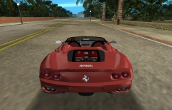 Ferrari 360 Spider GTA Vice City - вид сзади
