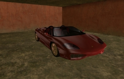 Ferrari 360 Spider GTA Vice City - в гараже
