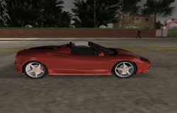 Ferrari 360 Spider GTA Vice City - вид сбоку
