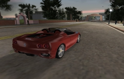 Ferrari 360 Spider GTA Vice City - вид под углом