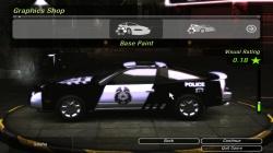 Полицейский винил для Nissan 240sx в NFS Undeground 2