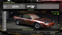 240SX Team Orange Vinyl для NFS Underground 2