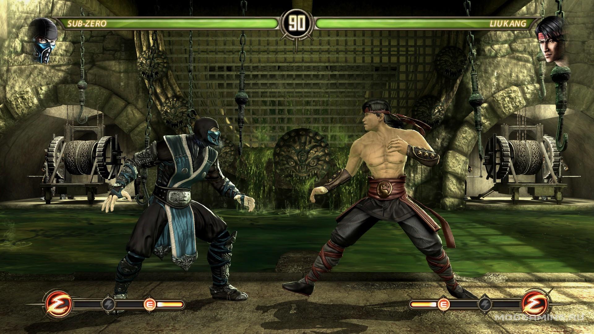 Серый костюм Кибер Саб-Зиро для Mortal Kombat Komplete Edition