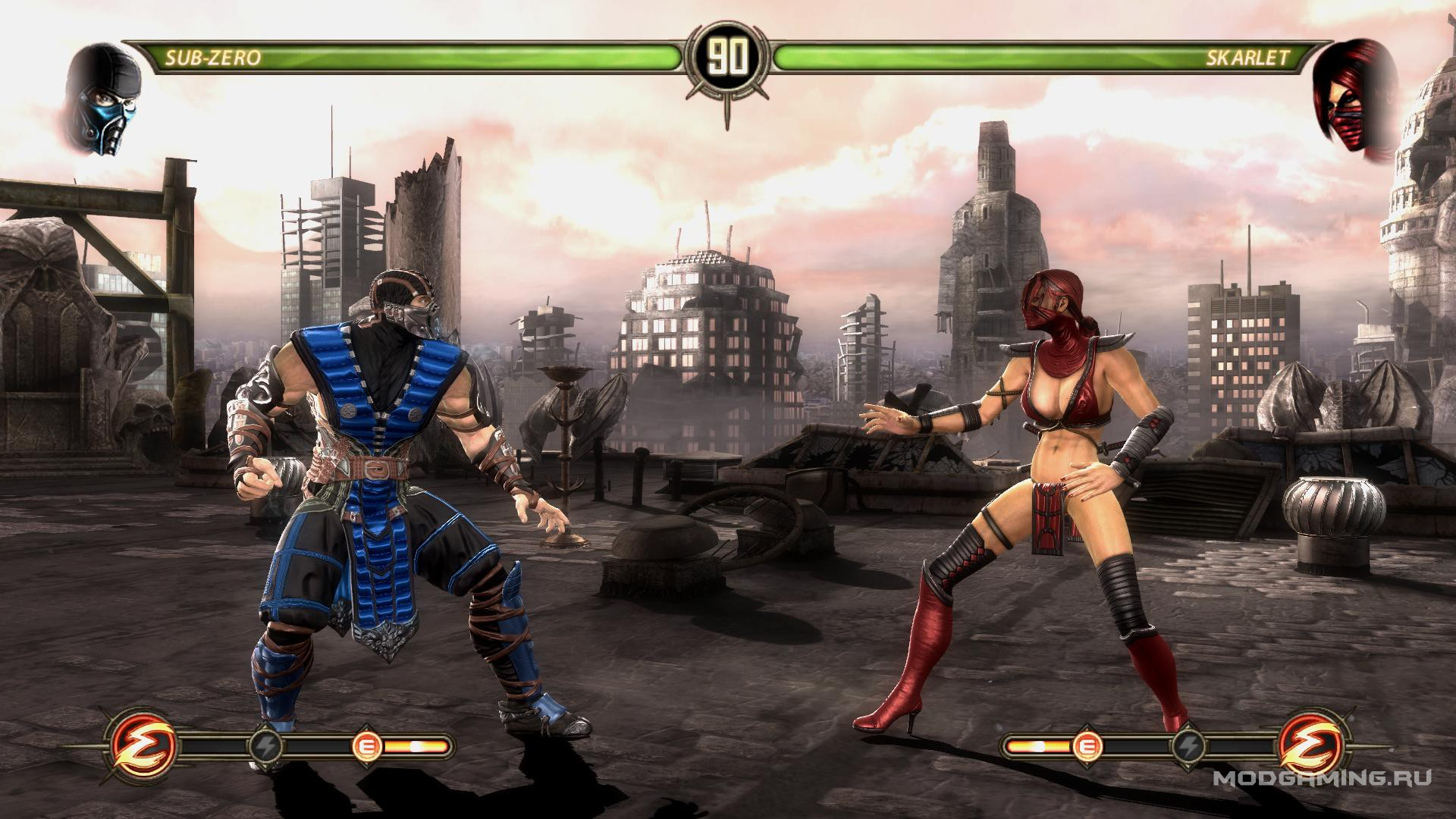 Mortal Kombat Komplete Edition PC Кибер Саб-Зиро VS Горо и