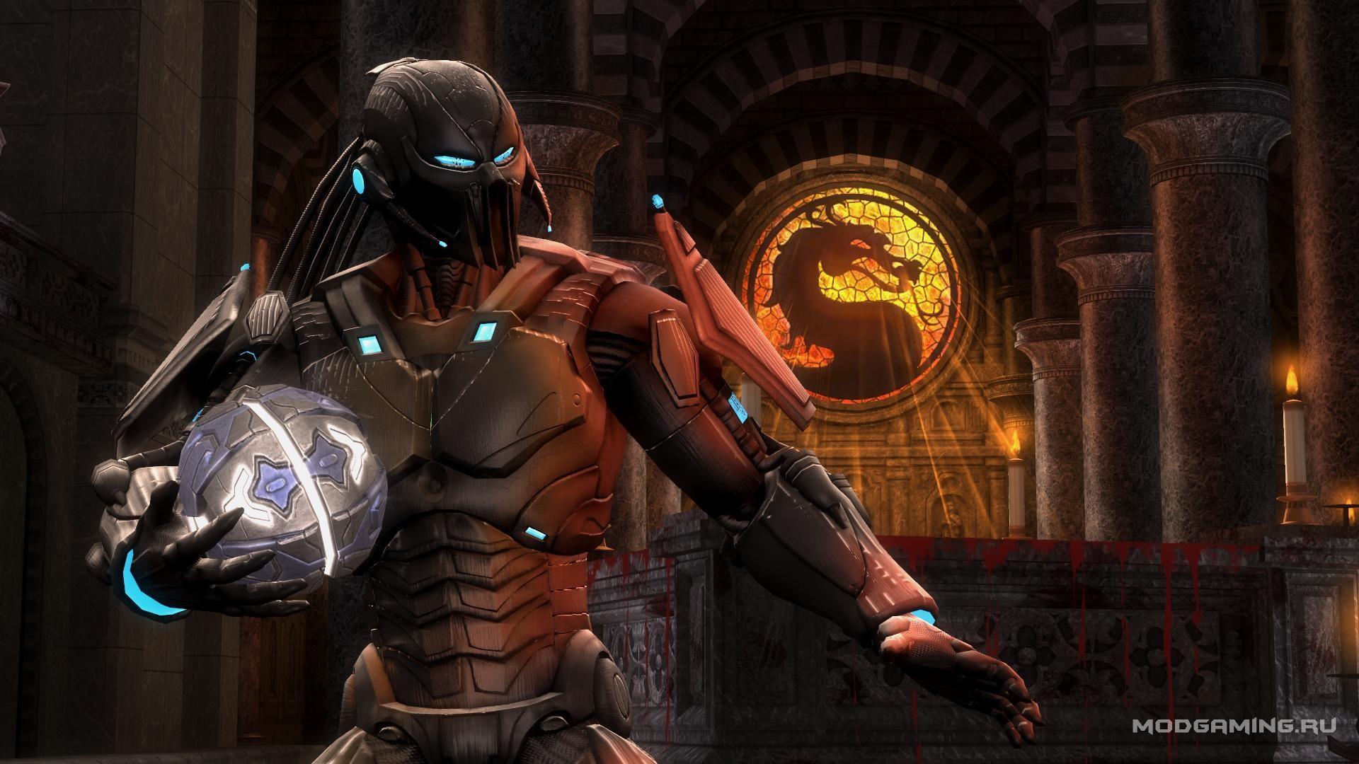 Костюм Саб-Зиро с белым обрамлением для Mortal Kombat