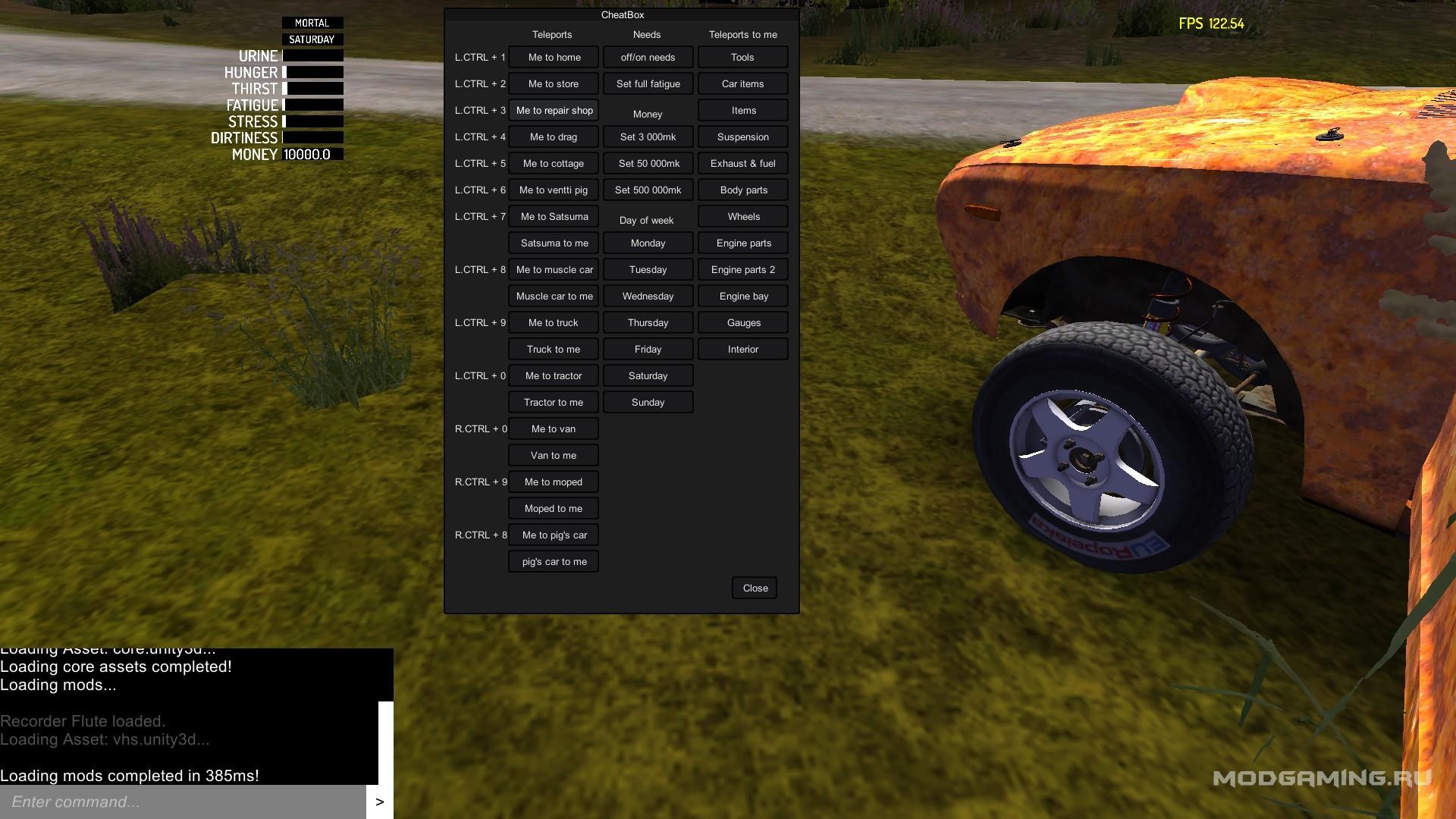Плагин CheatBox 1 0 9 для My Summer Car
