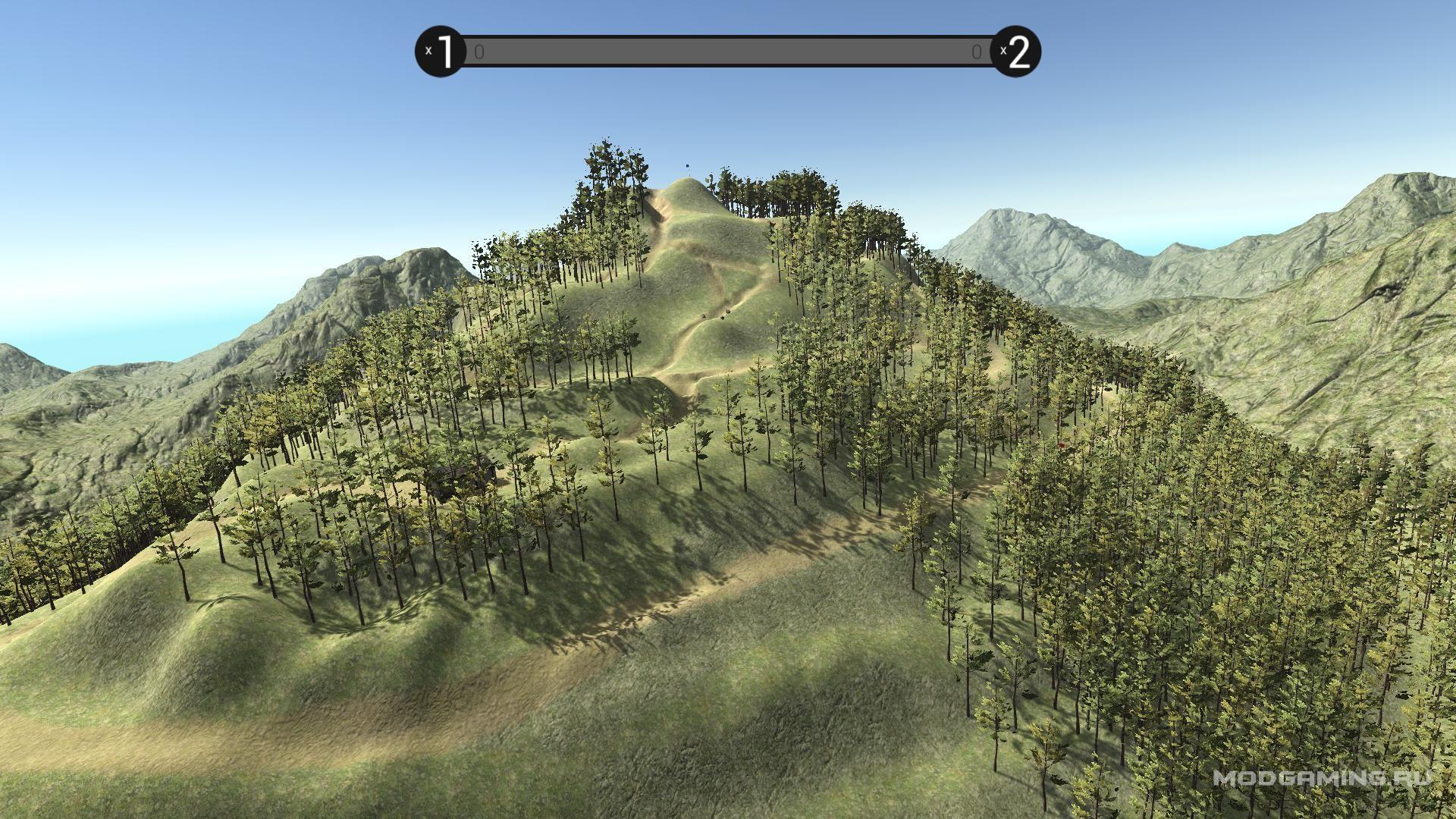 Карта Горы в лесу