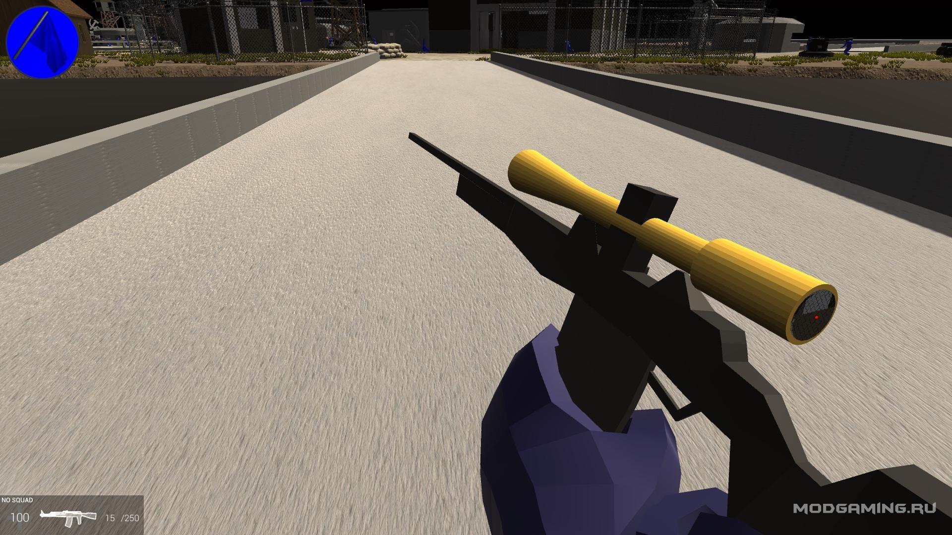 Снайперка с необычным прицелом