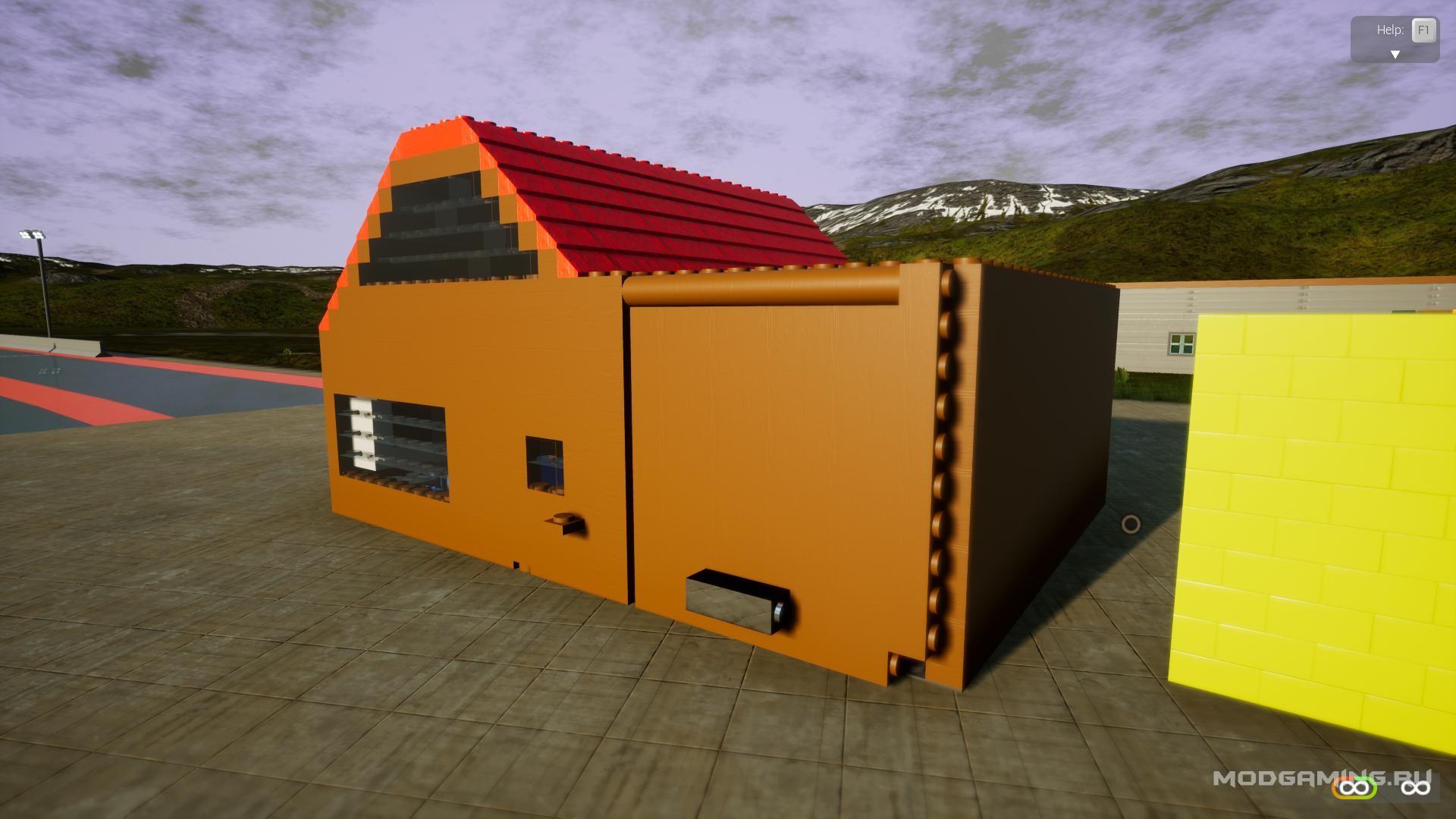 Деревянный дом с гаражем